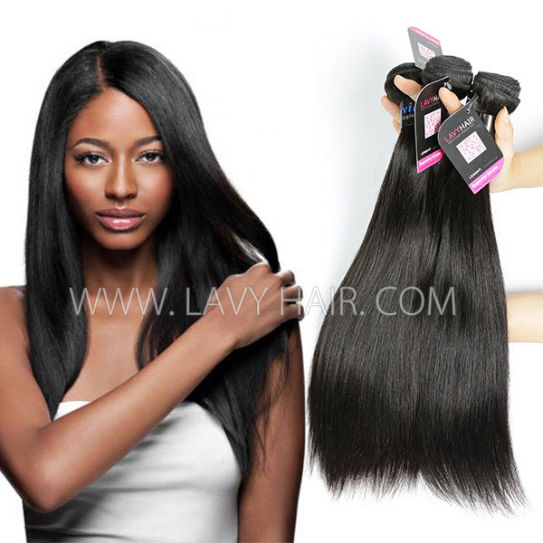 Superior Grade mix 3 or 4 bundles Peruvian Straight Virgin Human Hair Extensions