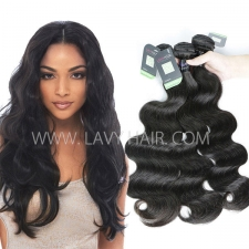 Regular Grade mix 3 or 4 bundles Mongolian Body Wave Virgin Human hair extensions