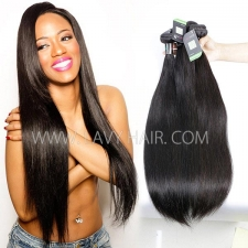 Regular Grade mix 3 or 4 bundles Brazilian Straight Virgin Human hair extensions