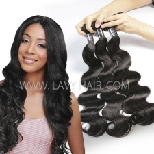 Regular Grade mix 3 or 4 bundles Malaysian Body Wave Virgin Human hair extensions