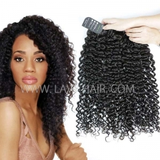 Regular Grade mix 3 or 4 bundles Cambodian Italian Curly Virgin Human Hair Extensions