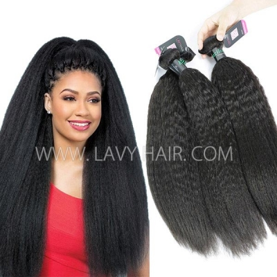 Superior Grade 3 or 4 bundles Kinky Straight Virgin Human hair extensions Brazilian Peruvian Malaysian Indian European Cambodian Burmese Mongolian