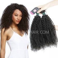 Superior Grade mix 3 or 4 bundles Brazilian Kinky Curly Virgin Human hair extensions