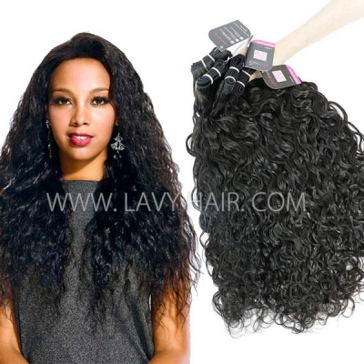 Superior Grade mix 3 or 4 bundles Peruvian Natural Wave Virgin Human Hair Extensions
