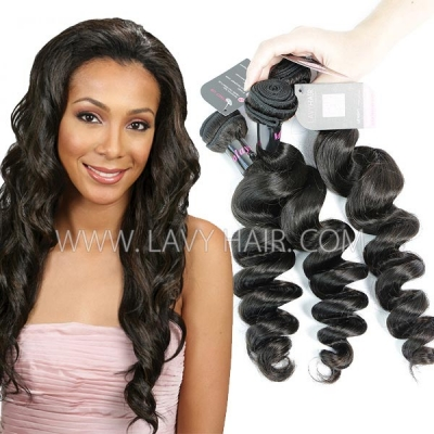 Superior Grade mix 3 or 4 bundles Malaysian Loose Wave Virgin Human Hair Extensions
