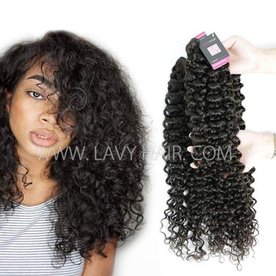 Superior Grade mix 3 or 4 bundles Malaysian Italian Curly Virgin Human Hair Extensions