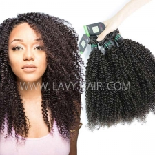 Regular Grade mix 3 or 4 bundles Brazilian Kinky Curly Virgin Human Hair Extensions