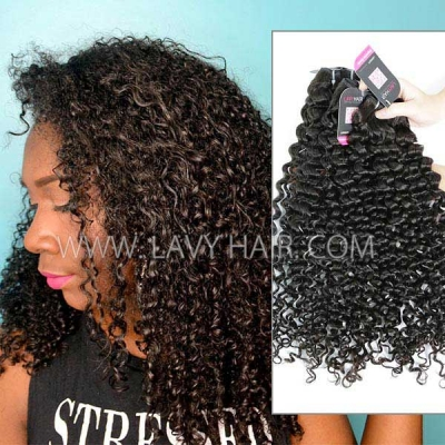 Superior Grade mix 3 or 4 bundles Peruvian Italian curly Virgin Human hair extensions