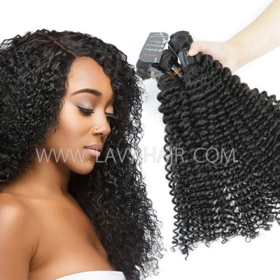 Superior Grade mix 3 or 4 bundles Indian Deep Curly Virgin Human Hair Extensions