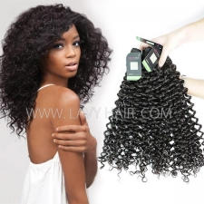 Regular Grade mix 3 or 4 bundles Mongolian Italian Curly Virgin Human Hair Extensions