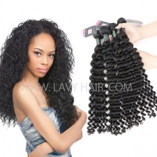 Superior Grade mix 3 or 4 bundles Brazilian Deep wave Virgin Human Hair Extensions