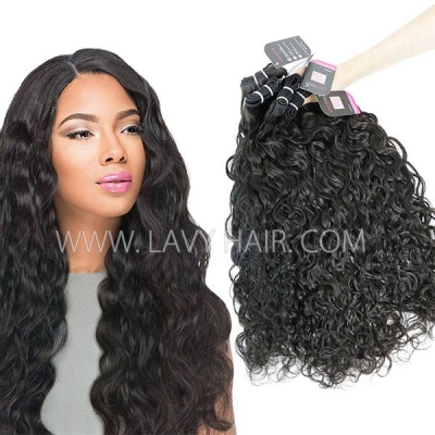 Superior Grade mix 3 or 4 bundles Mongolian Natural Wave Virgin Human Hair Extensions