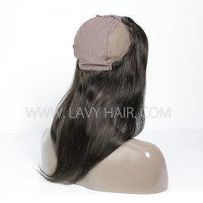 13*4 Lace Frontal comes with cap Straight Human hair medium brown Swiss lace