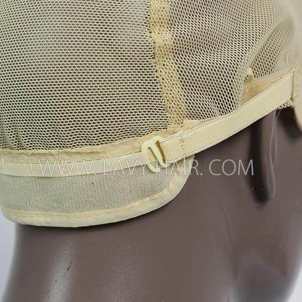 M size wig caps come with adjustable straps, blonde color