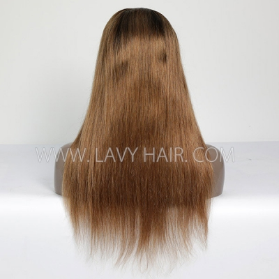 1B/30 Color Lace Frontal Wigs Straight Hair Human Hair