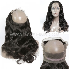 360 Lace Frontal Closure Body Wave Human hair medium brown Swiss lace