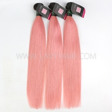 #1B/Pink Superior Grade mix 3 or 4 bundles Brazilian straight Virgin Human hair extensions