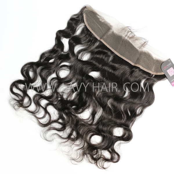 Ear to ear 13*2 Lace Frontal Closure Body Wave Human hair medium brown Swiss lace