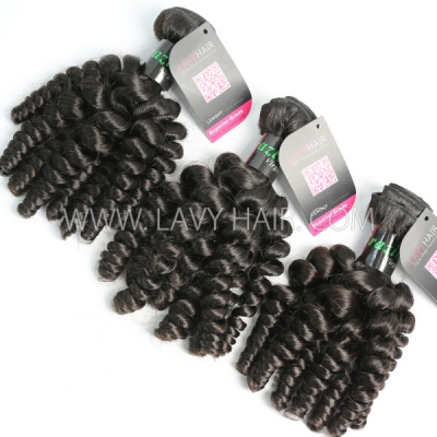 Superior Grade mix 3 or 4 bundles Brazilian Spiral Curly Virgin Human Hair Extensions