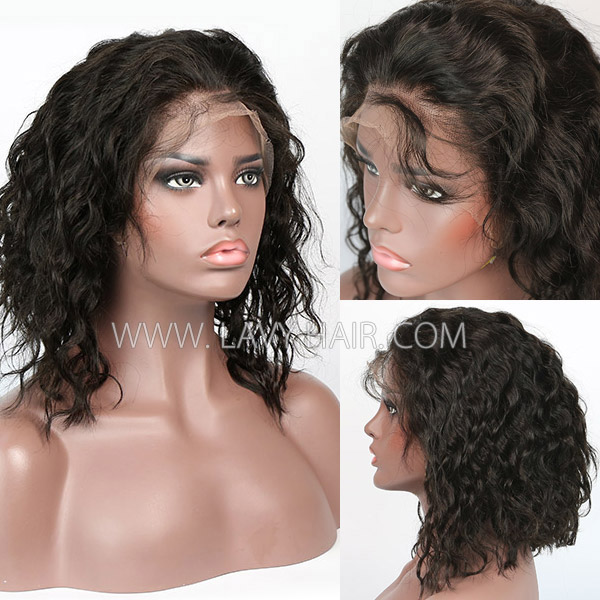 Lace Frontal Bob Wig 150% Density Loose Wave Human Hair