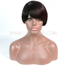 150% Density Bob Wig Straight Hair Human Hair RE2W-031 1B-99J