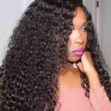 Lace Frontal Wigs 180% Density Italian Curly Human Hair