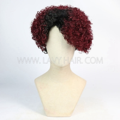 150% Density Bob Wig Wave Human Hair RF3C-124-T1B-530