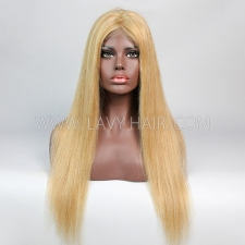 P#10-24 Color Lace Closure 4*4 With Bundles Sewing Wigs Straight Human hair
