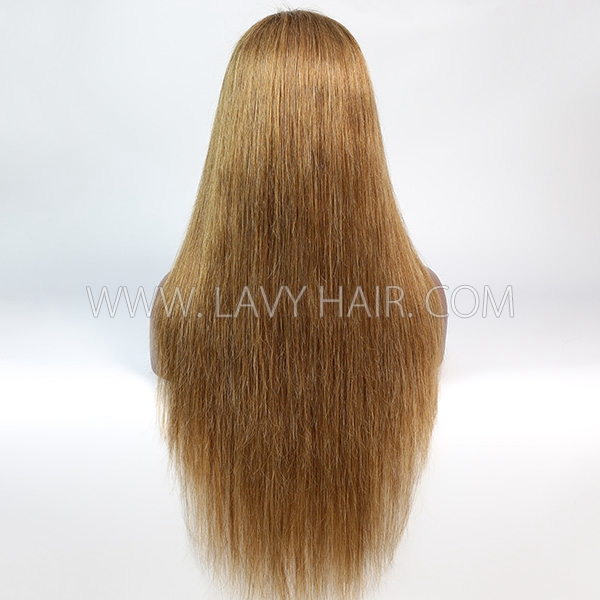 Color 8 Lace Closure 4*4 With Bundles Sewing Wigs Straight Human hair