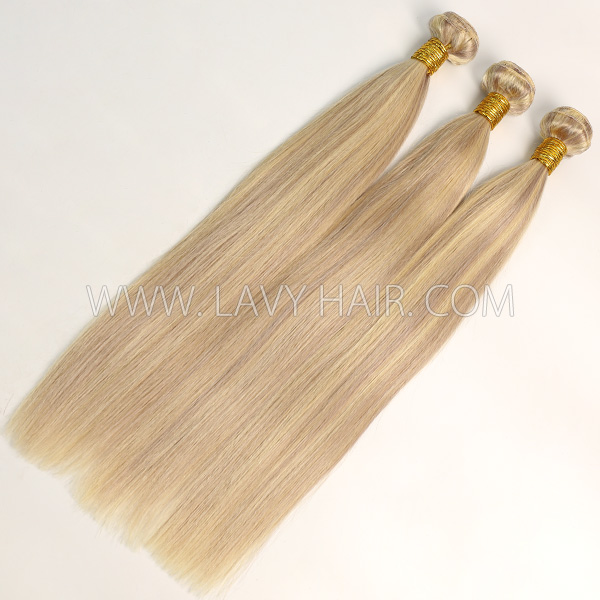 Color p18/613 Straight Hair Human Virgin Hair 1 Bundle