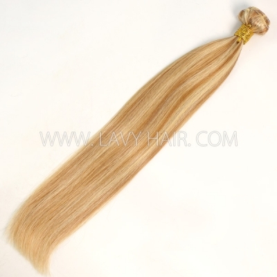 Color p10/24 Straight Hair Human Virgin Hair 1 Bundle