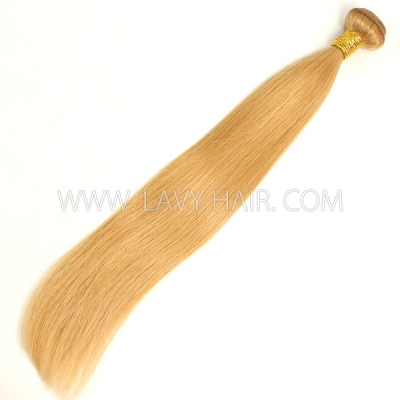 Color 27 Straight Hair Human Virgin Hair 1 Bundle