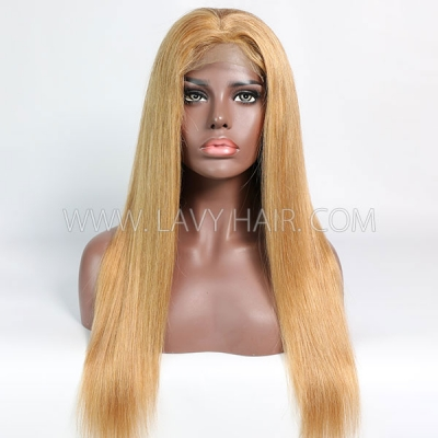 Color 10 Lace Closure 4*4 With Bundles Sewing Wigs Straight Human hair