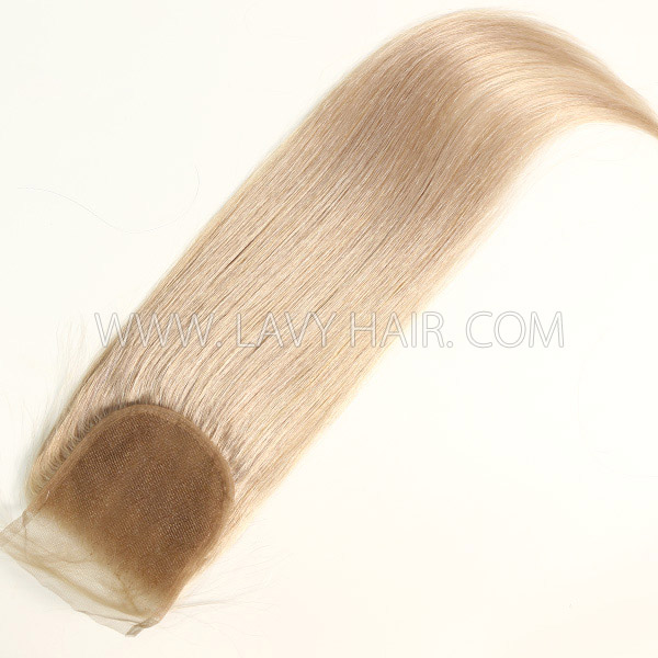 "Color 18 Lace top closure 4*4"" Straight  Human hair medium brown Swiss lace"