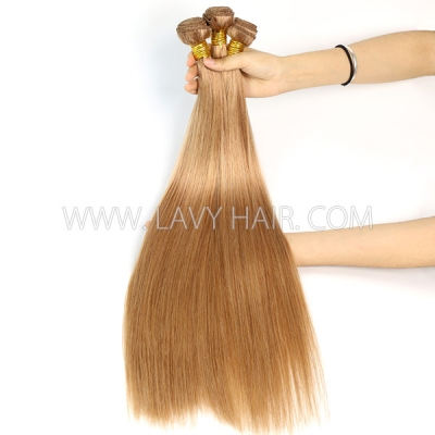 Color 10 Straight Hair Human Virgin Hair 2/3 Bundles With Lace Closure 4*4