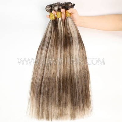 Color p4/18 Straight Hair Human Virgin Hair 1 Bundle