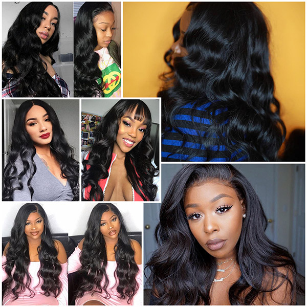 360 Lace Frontal Wigs 180% Density Body Wave Human Hair