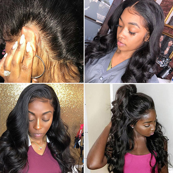 360 Lace Frontal Wigs 130% Density Body Wave Human Hair