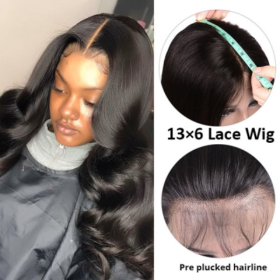 13*6 Lace Frontal Wigs 130% Density 100% Human hair