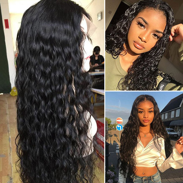 130% Density Full Lace Wigs Natural Wave Human Hair