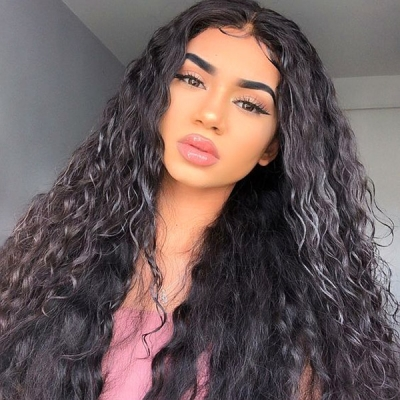 180% Density Full Lace Wigs Natural Wave Human Hair