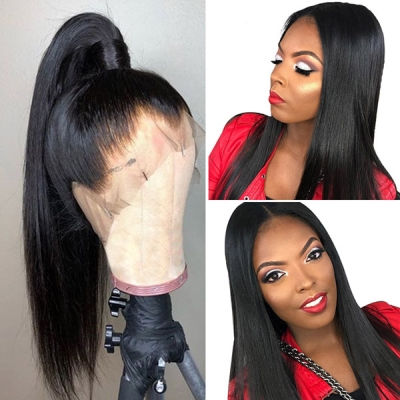 360 Lace Front Wigs 130% Density Straight Hair Human Hair