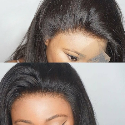 Lace Frontal Wigs 300% Density Straight Hair Human Hair