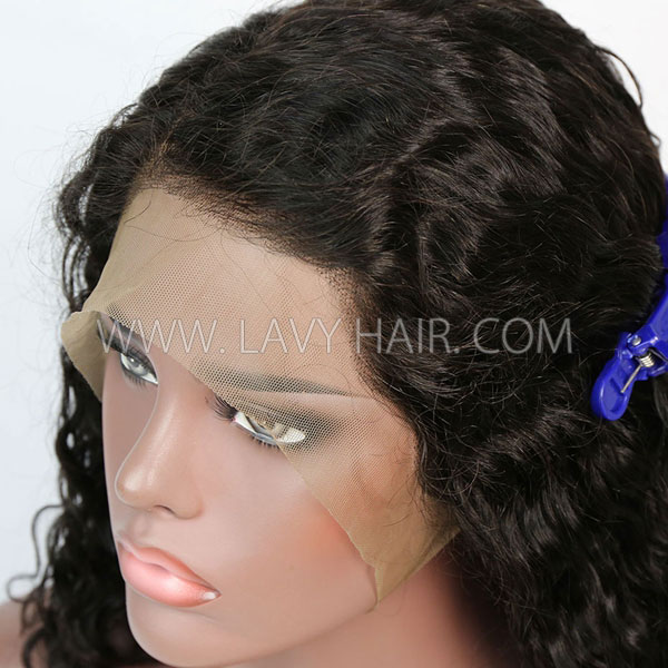 Lace Frontal 13*6  Bob Wig 180% Density Deep Wave Hair Human hair
