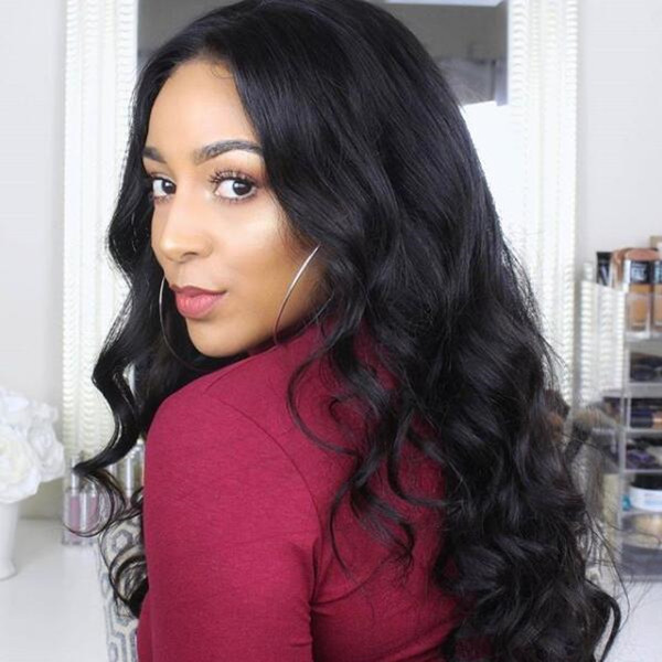 U-part Lace Frontal Wigs 130% Density Body Wave Human Hair