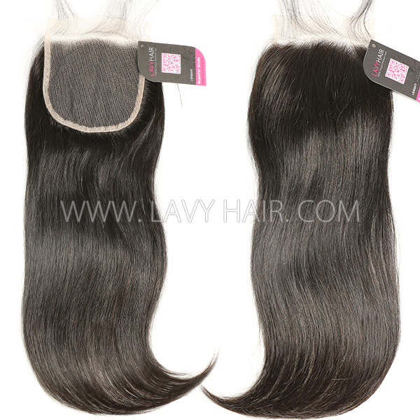 HD Lace Human Hair 4*4 Medium Brown Lace Closure