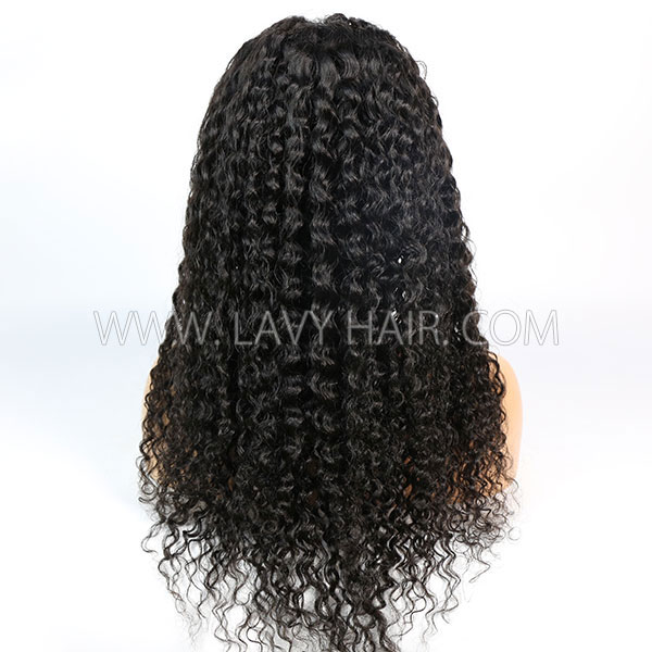 180% Density Natural Color & 1B/30 Ombre Color Loose Deep Wave Human Hair Lace Frontal Wigs