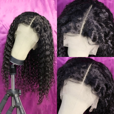 1B Natural Color Loose Deep Wave Human Hair 13*6 Lace Frontal Wigs