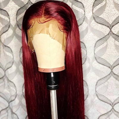 Straight Hair Wig Fashion Wine Red Color 7 Workdays Making CW-16