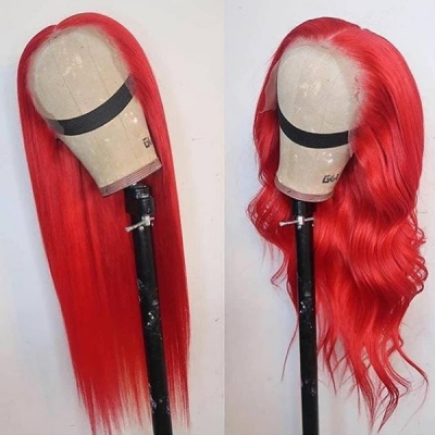 Customize Only 7 Days Rose Red Color Straight Hair Wig CW-53